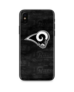 Los Angeles Rams Black & White iPhone XS Skin