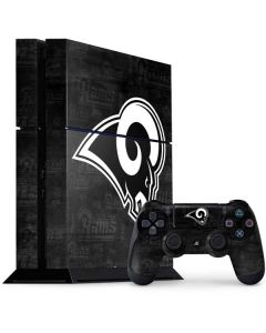 Los Angeles Rams Black & White PS4 Console and Controller Bundle Skin