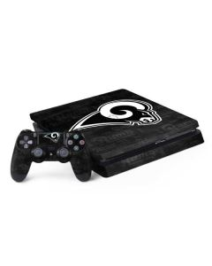 Los Angeles Rams Black & White PS4 Slim Bundle Skin