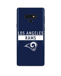 Los Angeles Rams Blue Performance Series Galaxy Note 9 Skin