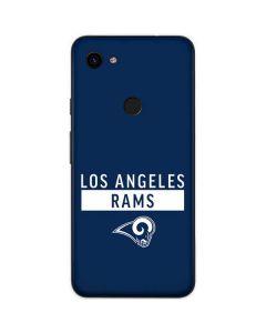 Los Angeles Rams Blue Performance Series Google Pixel 3a Skin