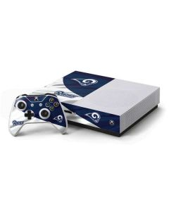 Los Angeles Rams Flag Xbox One S Console and Controller Bundle Skin