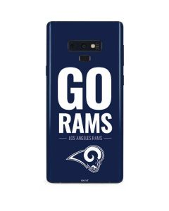 Los Angeles Rams Team Motto Galaxy Note 9 Skin