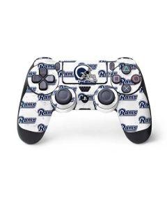 Los Angeles Rams White Logo Blast PS4 Controller Skin