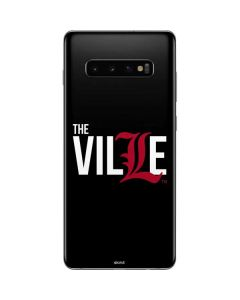 Louisville Black Background Galaxy S10 Plus Skin