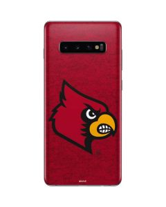 Louisville Red Background Galaxy S10 Plus Skin