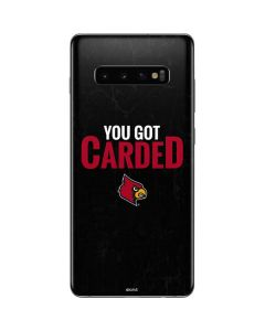 Louisville You Got Carded Galaxy S10 Plus Skin