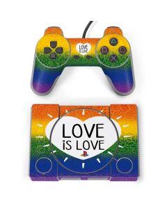 Love Is Love Rainbow PlayStation Classic Bundle Skin