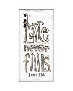 Love Never Fails Galaxy Note 10 Skin