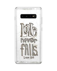 Love Never Fails Galaxy S10 Plus Skin