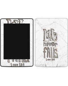 Love Never Fails Amazon Kindle Skin