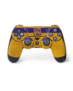 Love Purple Live Gold LSU PS4 Controller Skin