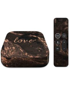 Love Rose Gold Black Apple TV Skin