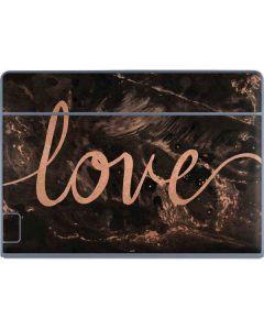 Love Rose Gold Black Galaxy Book Keyboard Folio 12in Skin