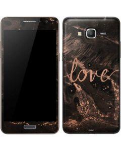 Love Rose Gold Black Galaxy Grand Prime Skin