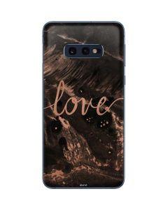 Love Rose Gold Black Galaxy S10e Skin