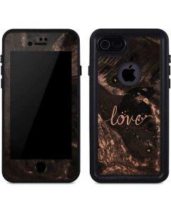 Love Rose Gold Black iPhone 8 Waterproof Case