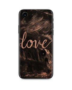 Love Rose Gold Black iPhone XR Skin
