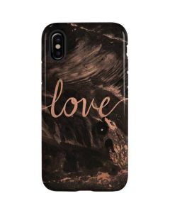 Love Rose Gold Black iPhone XS Pro Case