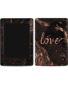 Love Rose Gold Black Amazon Kindle Skin