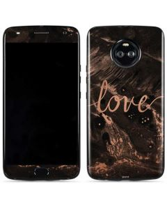 Love Rose Gold Black Moto X4 Skin