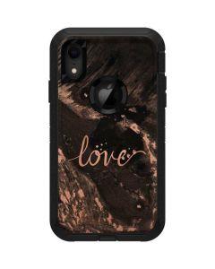 Love Rose Gold Black Otterbox Defender iPhone Skin