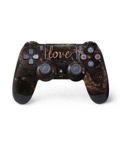 Love Rose Gold Black PS4 Pro/Slim Controller Skin