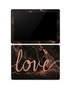 Love Rose Gold Black Surface Go Skin
