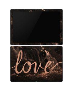 Love Rose Gold Black Surface Pro 6 Skin