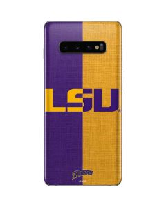 LSU Bold Split Galaxy S10 Plus Skin