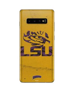 LSU Tiger Eye Gold Galaxy S10 Plus Skin