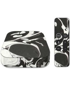 Marbleized Black Apple TV Skin