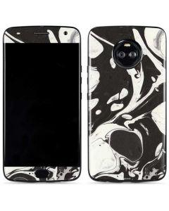 Marbleized Black Moto X4 Skin