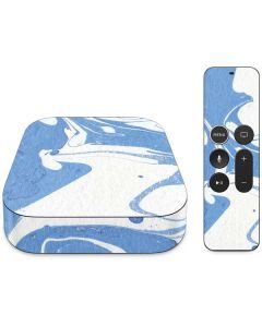 Marbleized Blue Apple TV Skin