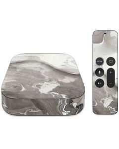 Marbleized Grey Apple TV Skin