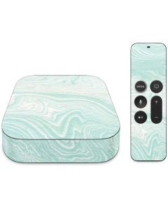 Marbleized Mint Apple TV Skin