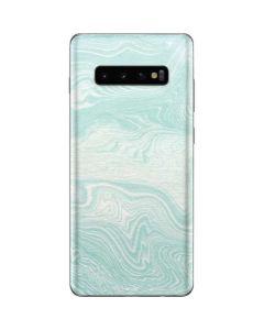 Marbleized Mint Galaxy S10 Plus Skin