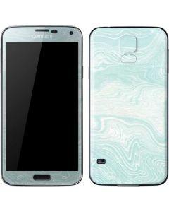 Marbleized Mint Galaxy S5 Skin