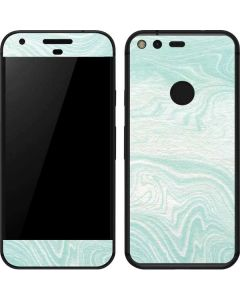 Marbleized Mint Google Pixel Skin