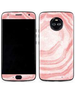 Marbleized Pink Moto X4 Skin