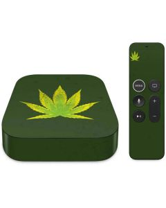 Marijuana Leaf Light Green Apple TV Skin