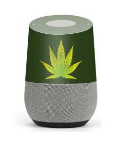 Marijuana Leaf Light Green Google Home Skin