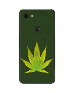 Marijuana Leaf Light Green Google Pixel 3 XL Skin