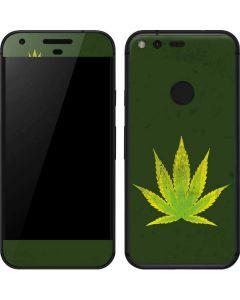 Marijuana Leaf Light Green Google Pixel Skin