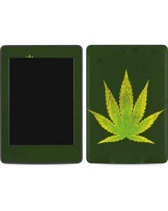 Marijuana Leaf Light Green Amazon Kindle Skin