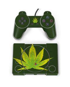 Marijuana Leaf Light Green PlayStation Classic Bundle Skin