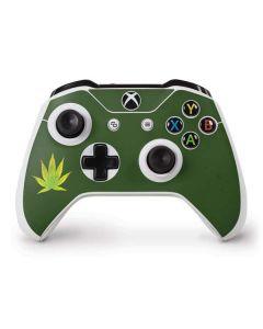 Marijuana Leaf Light Green Xbox One S Controller Skin
