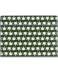 Marijuana Leaf White Pattern Galaxy Book Keyboard Folio 12in Skin