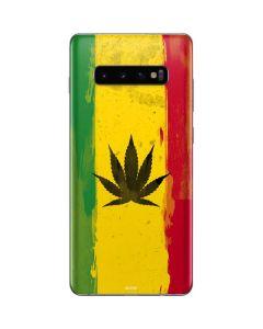 Marijuana Rasta Distressed Galaxy S10 Plus Skin