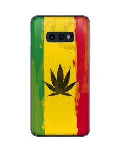 Marijuana Rasta Distressed Galaxy S10e Skin